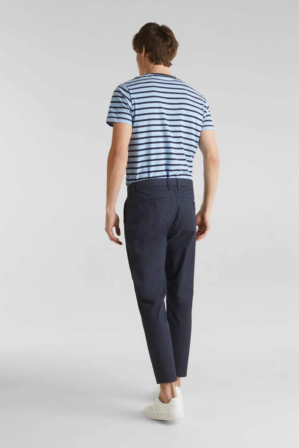 Stretch chinos with COOLMAX®, NAVY, detail image number 3