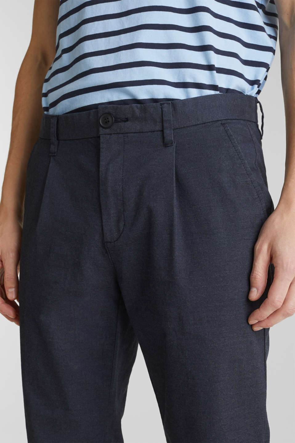 Stretch chinos with COOLMAX®, NAVY, detail image number 2