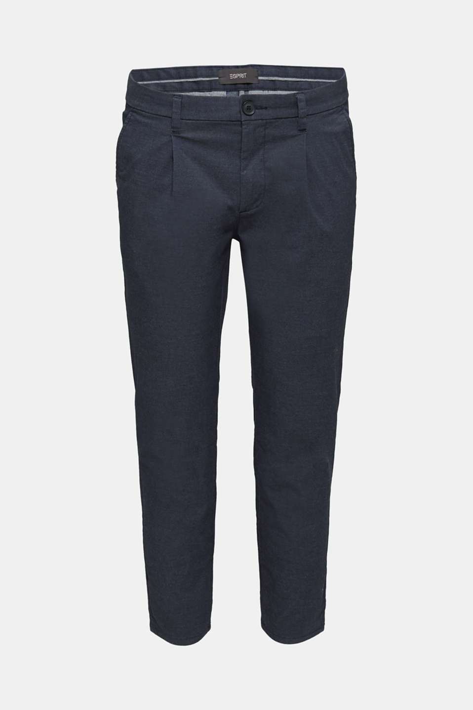 Stretch chinos with COOLMAX®, NAVY, detail image number 7