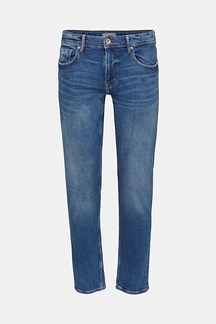 Jeans stretch con effetti slavati