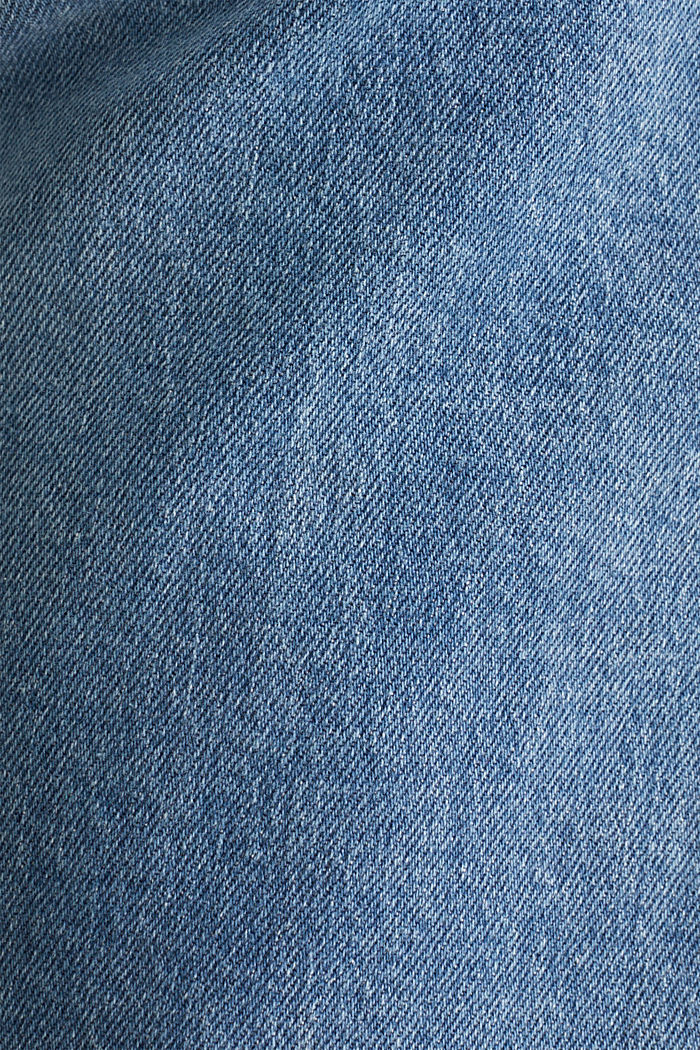 Stretch jeans with washed-out effects, BLUE LIGHT WASHED, detail image number 1