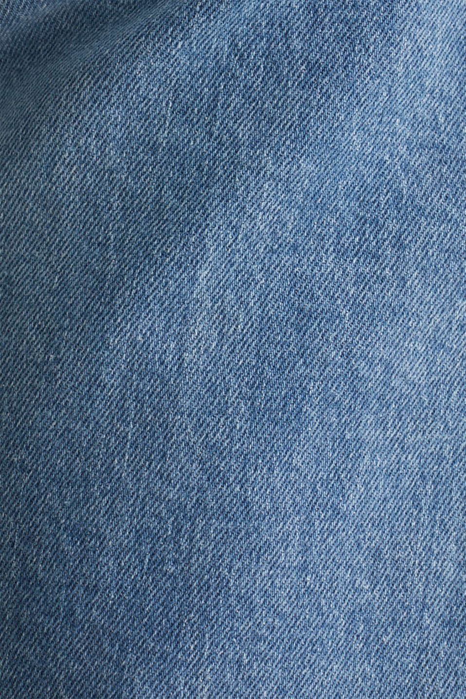 Stretch jeans with washed-out effects, BLUE LIGHT WASH, detail image number 4