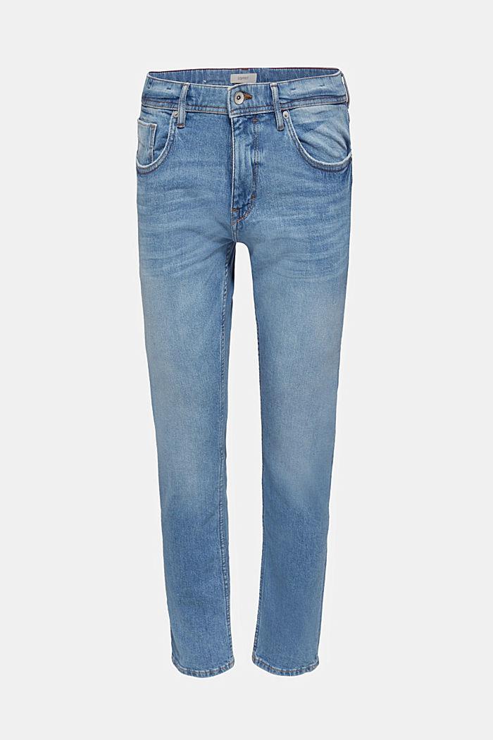 Strečové džíny se sepranými efekty