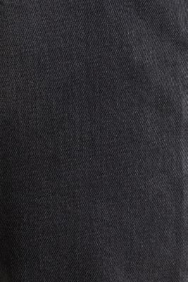 Stretch denim with a washed-out effect, BLACK MEDIUM WASH, detail