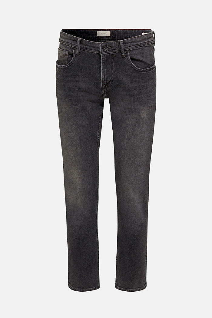 Denim met stretch en washed-out effect, BLACK MEDIUM WASHED, detail image number 3