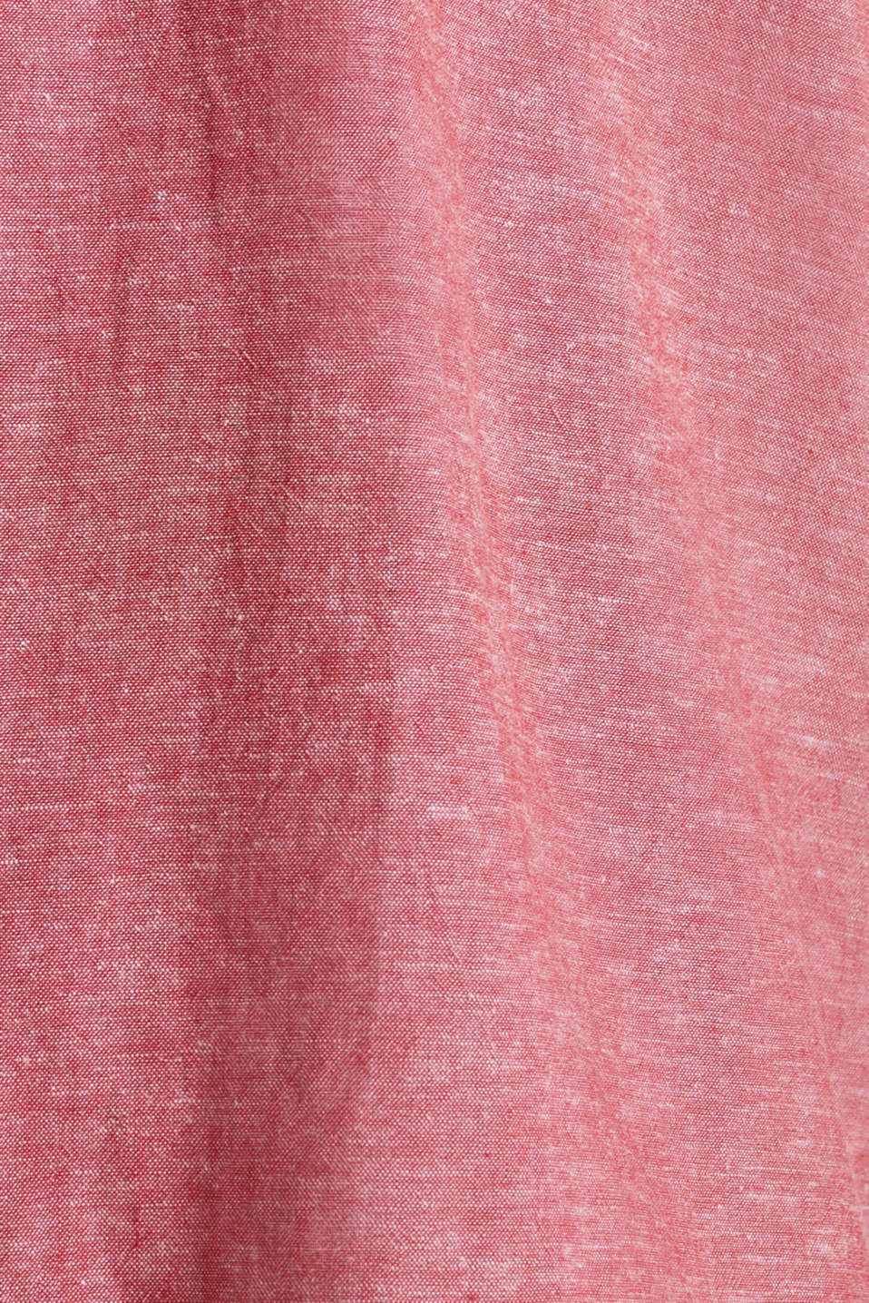 Shirt with linen and a button-down collar, RED 5, detail image number 4
