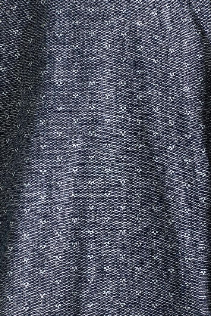 Mit Leinen: Hemd mit Micro-Muster, DARK BLUE, detail image number 1