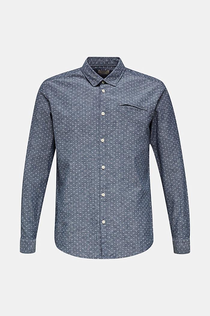 Mit Leinen: Hemd mit Micro-Muster, DARK BLUE, detail image number 3