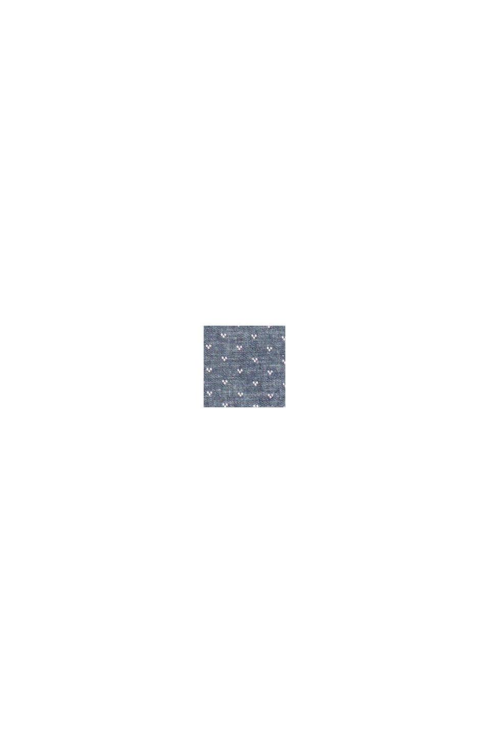 Con lino: Camicia con motivo micro, DARK BLUE, swatch