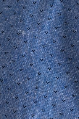 Blended linen: Shirt with a micro pattern, LIGHT BLUE 4, detail