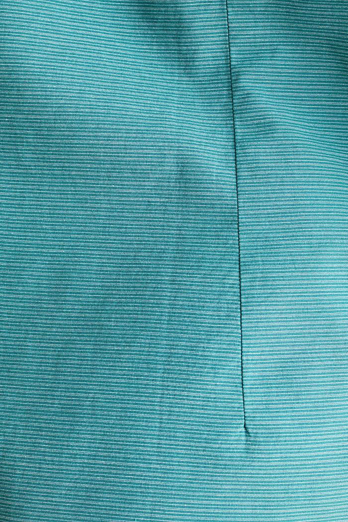 Hemd mit Stehkragen, 100% Baumwolle, TEAL GREEN, detail image number 3