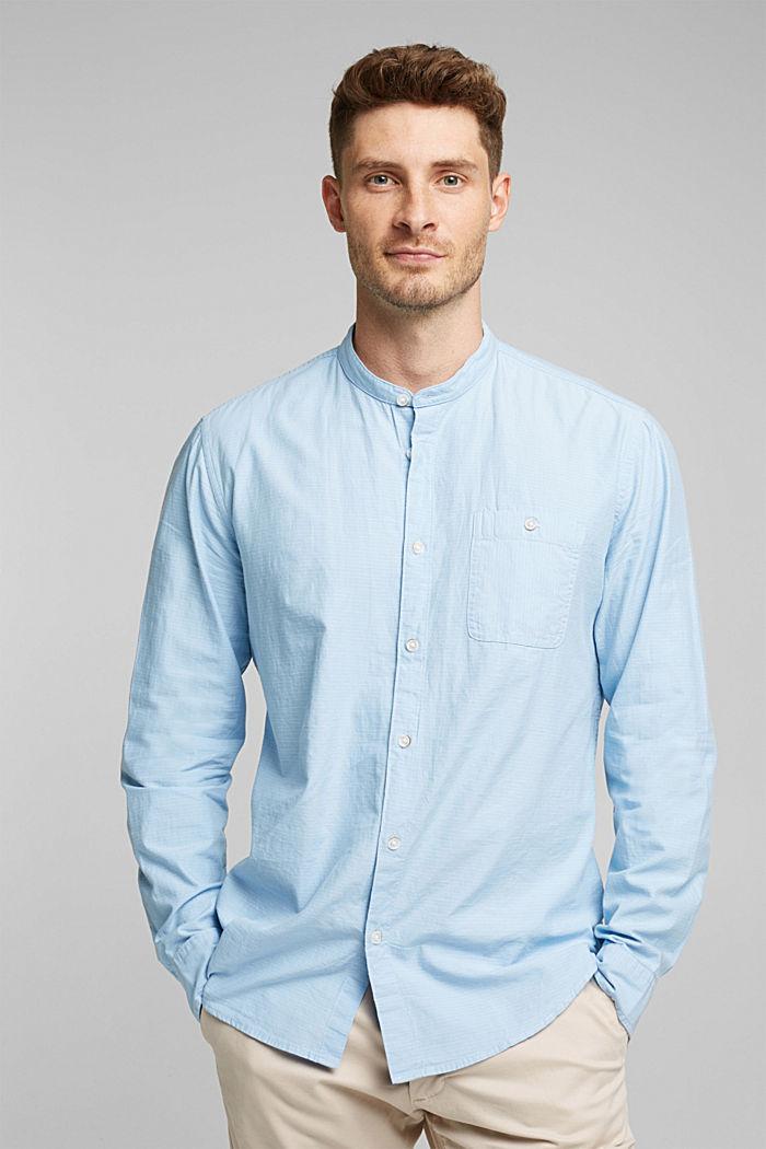 Hemd mit Stehkragen, 100% Baumwolle