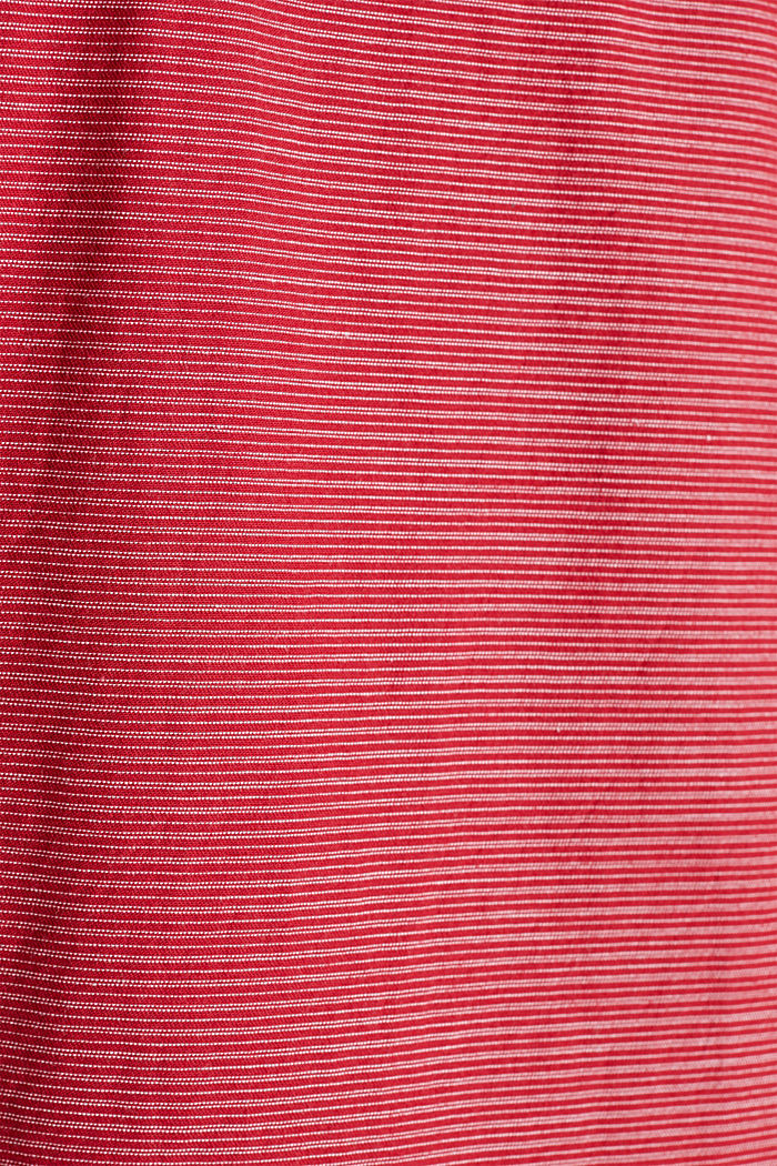 Shirt with band collar, 100% cotton, RED, detail image number 4