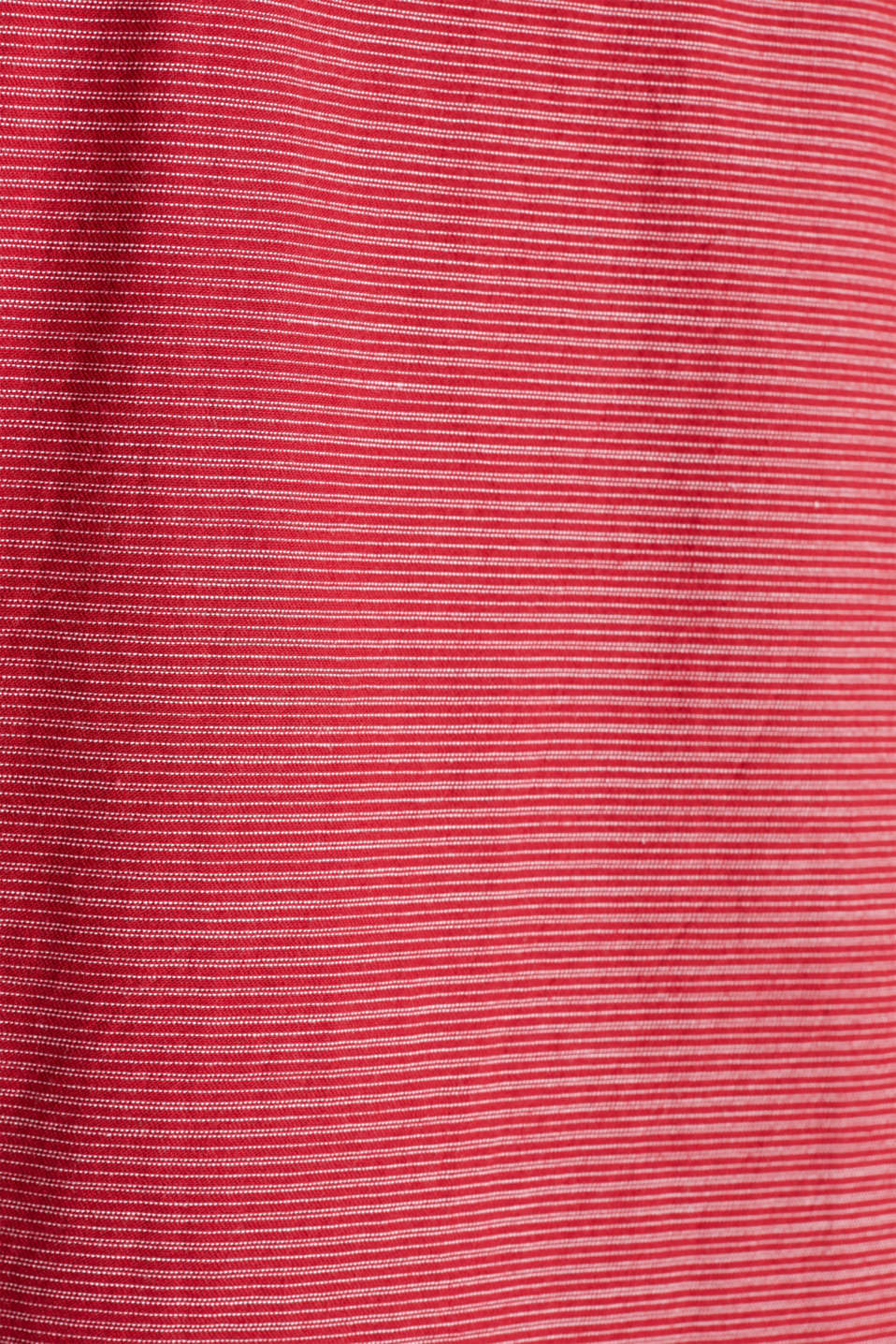 Shirt with band collar, 100% cotton, RED 3, detail image number 4