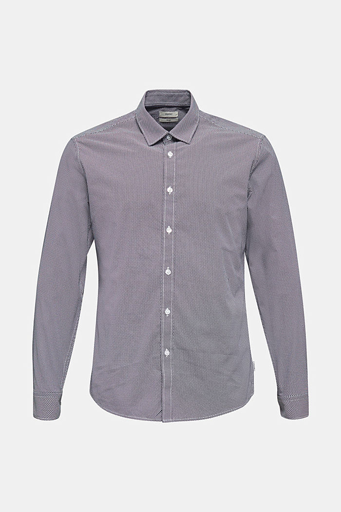 Camisa con textura, 100 % algodón, NAVY, detail image number 0