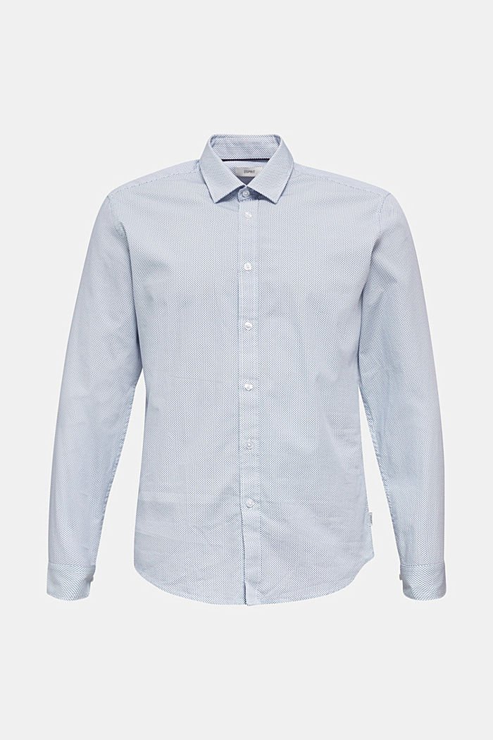 Textured shirt made of 100% cotton, PASTEL BLUE, detail image number 0