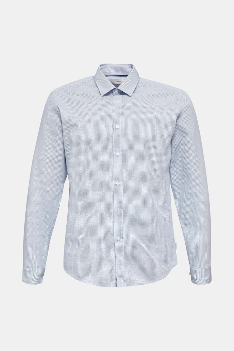 Textured shirt made of 100% cotton, PASTEL BLUE 4, detail image number 5