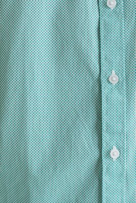 Textured shirt made of 100% cotton, TURQUOISE 4, detail