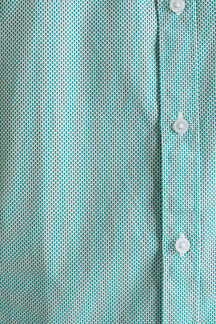 Textured shirt made of 100% cotton, TURQUOISE, detail image number 1