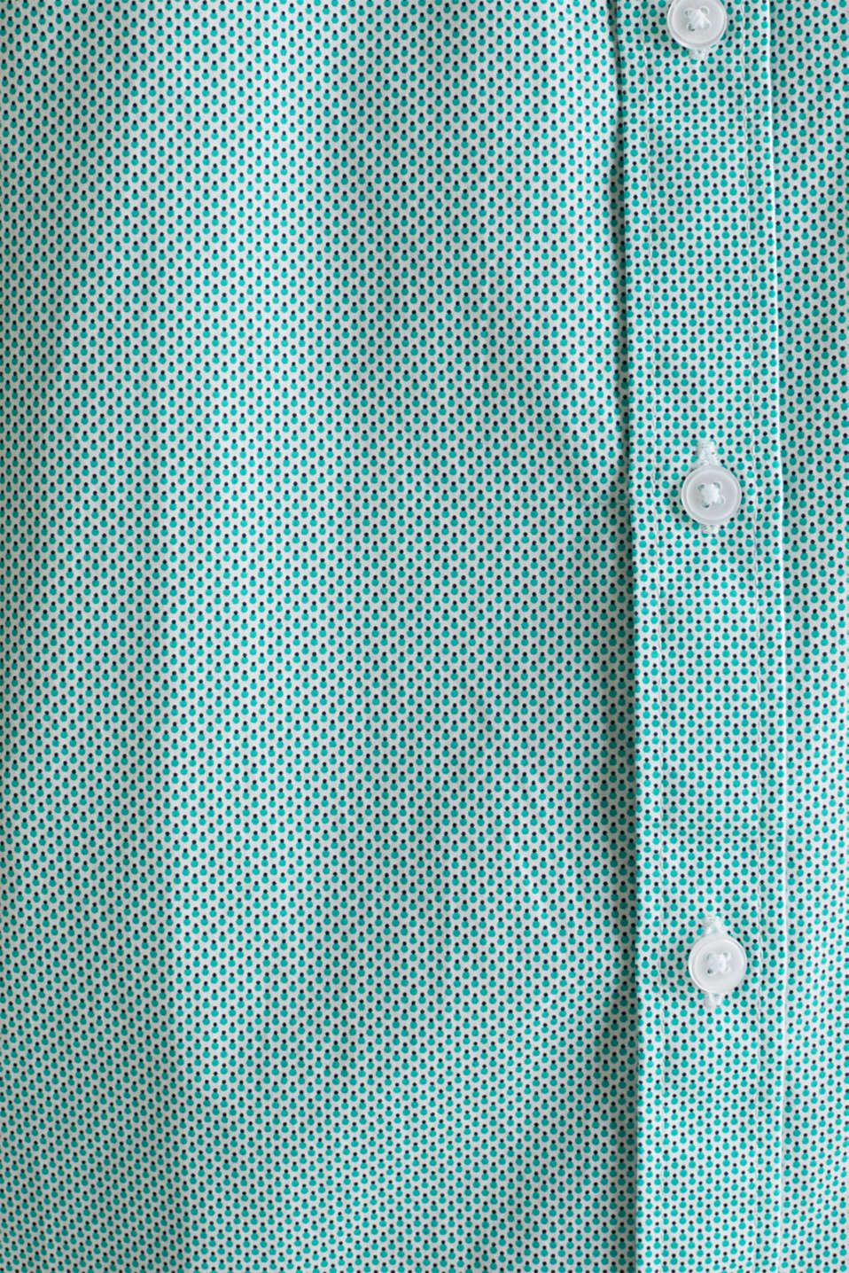 Textured shirt made of 100% cotton, TURQUOISE 4, detail image number 4