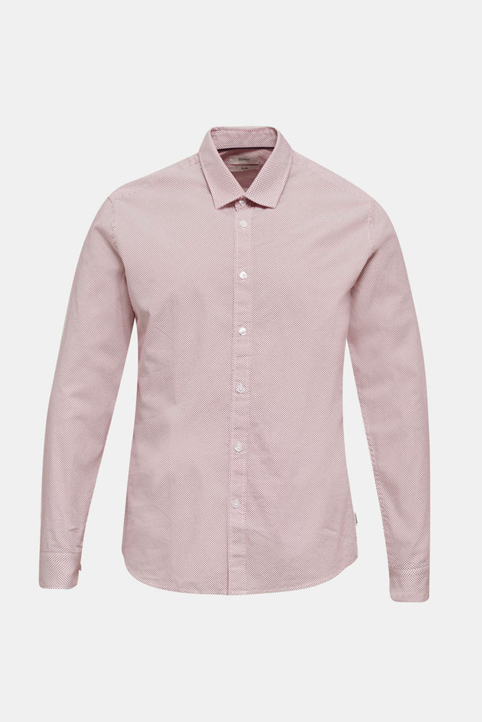 Textured shirt made of 100% cotton, RED 4, detail image number 0
