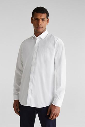 Plain-coloured shirt with COOLMAX®