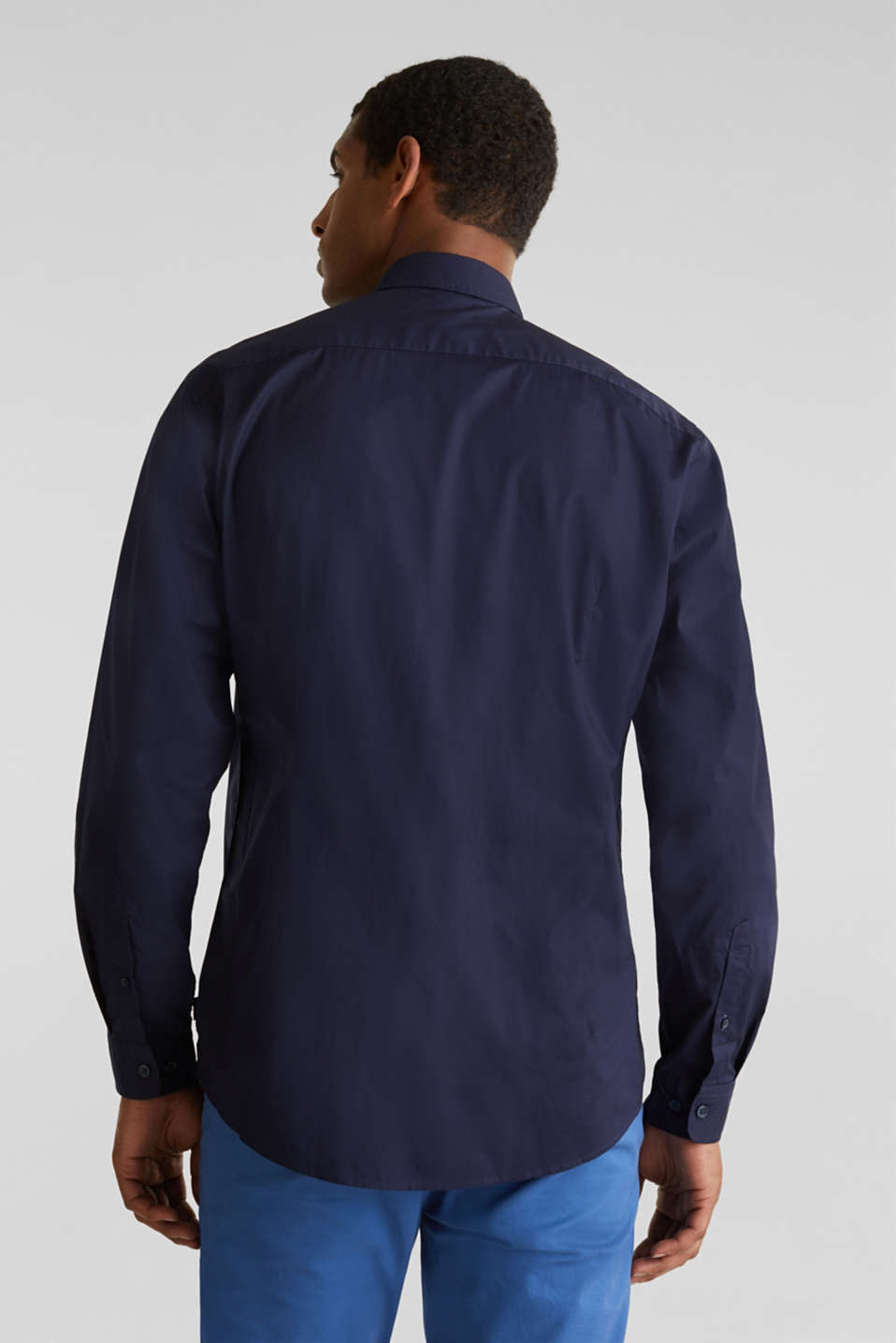 Plain-coloured shirt with COOLMAX®, NAVY, detail image number 3