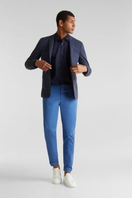 Plain-coloured shirt with COOLMAX®, NAVY, detail