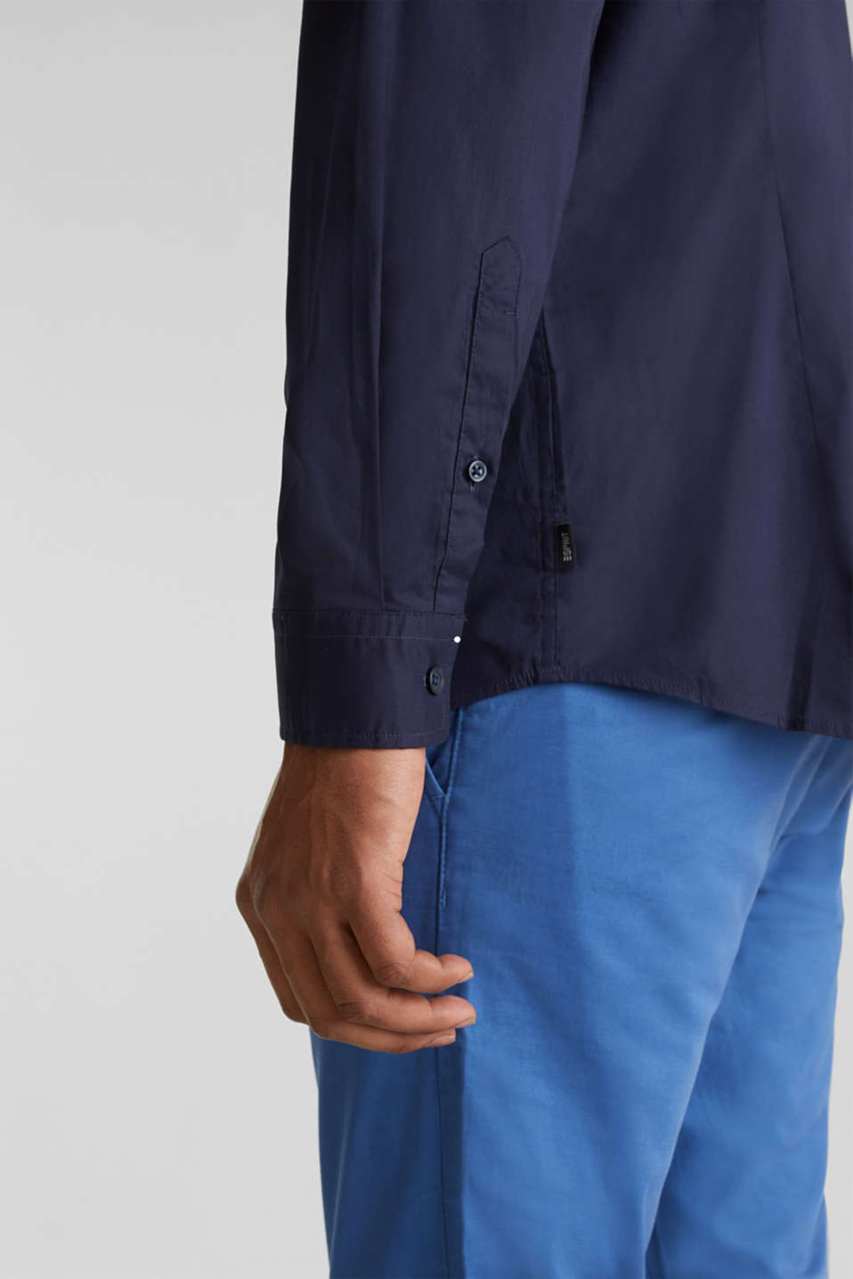 Plain-coloured shirt with COOLMAX®, NAVY, detail image number 5