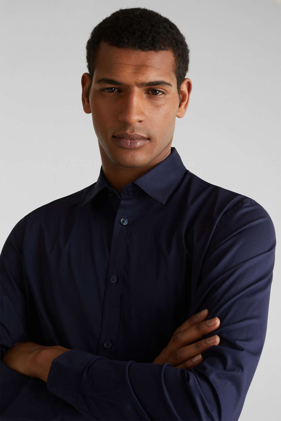 Plain-coloured shirt with COOLMAX®, NAVY, detail image number 6