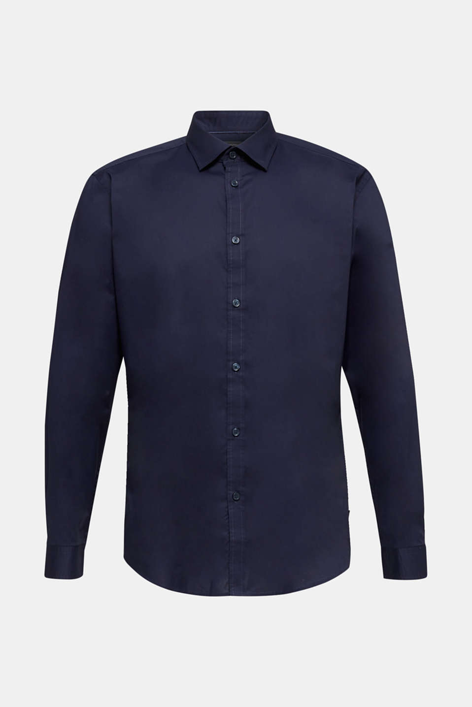 Plain-coloured shirt with COOLMAX®, NAVY, detail image number 8
