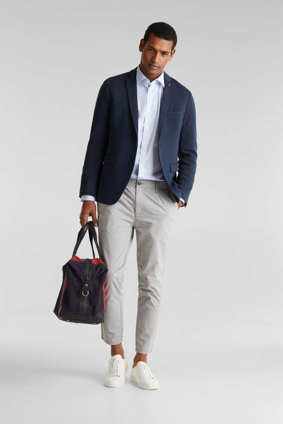 Plain-coloured shirt with COOLMAX®, LIGHT BLUE, detail image number 1