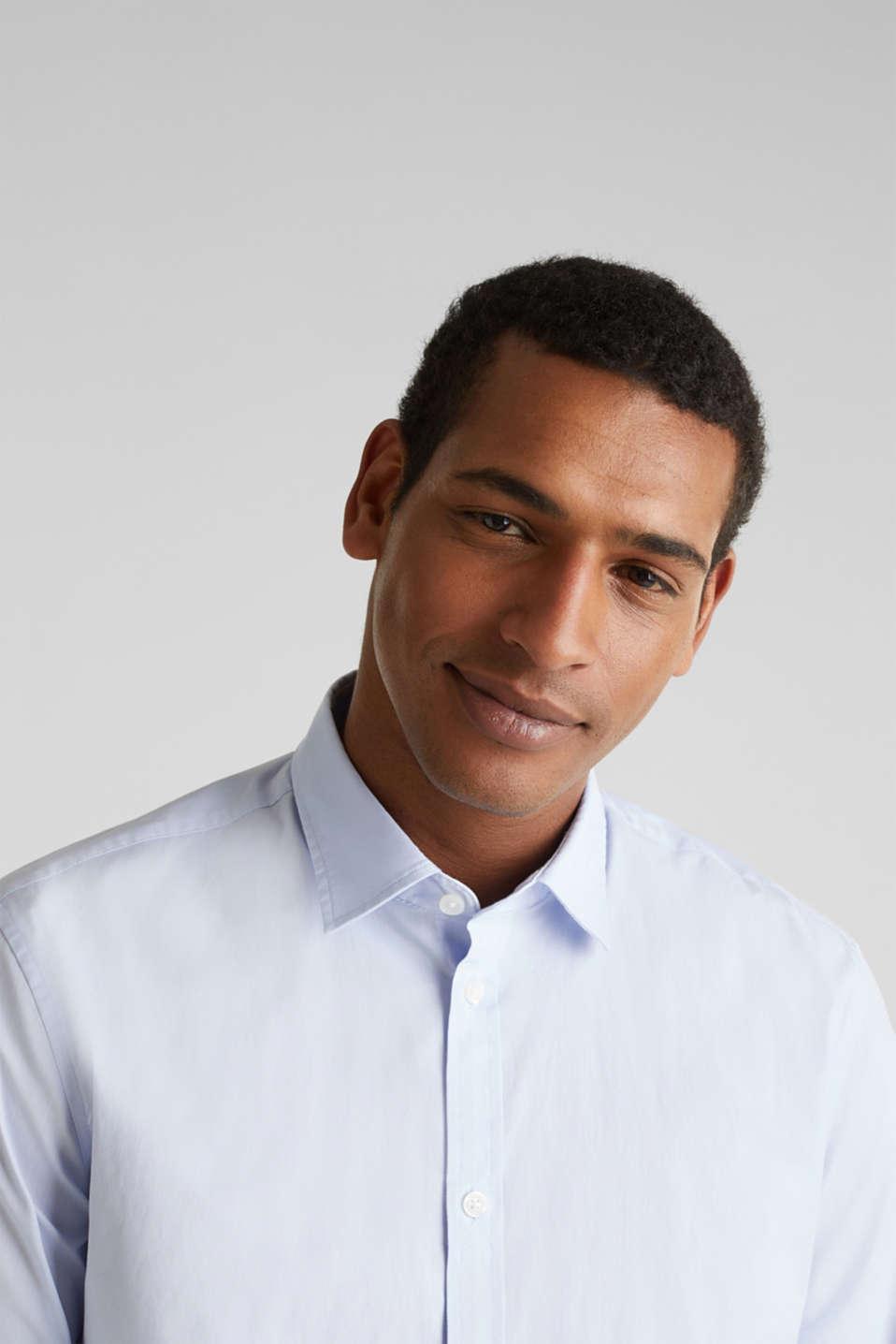 Plain-coloured shirt with COOLMAX®, LIGHT BLUE, detail image number 2