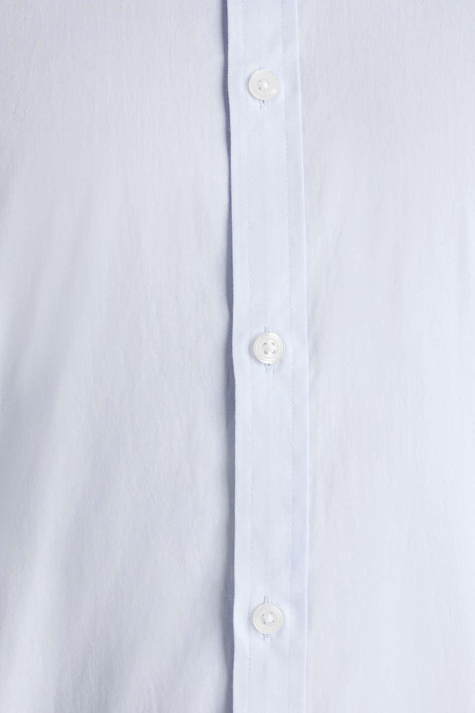 Plain-coloured shirt with COOLMAX®, LIGHT BLUE, detail image number 4