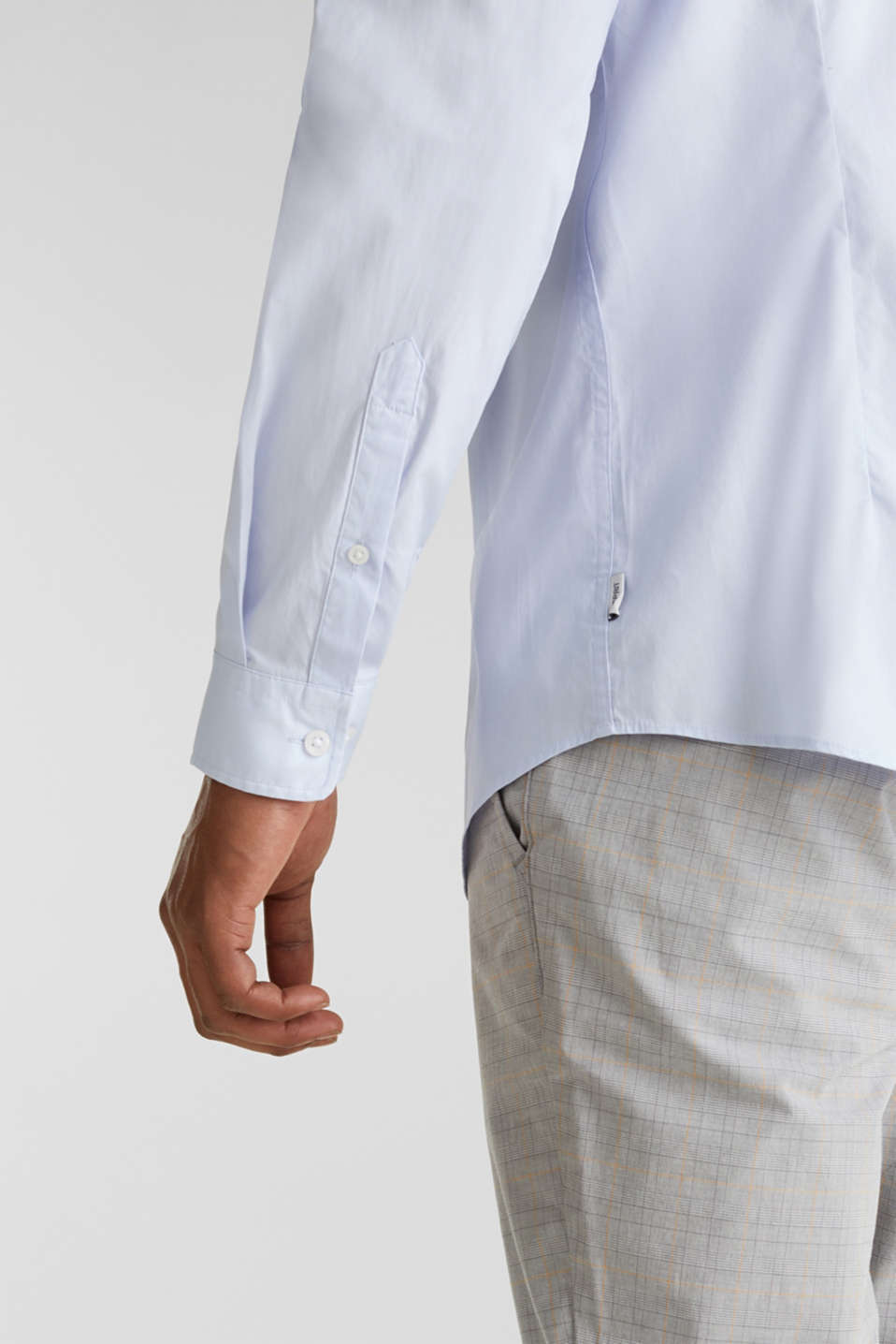 Plain-coloured shirt with COOLMAX®, LIGHT BLUE, detail image number 5