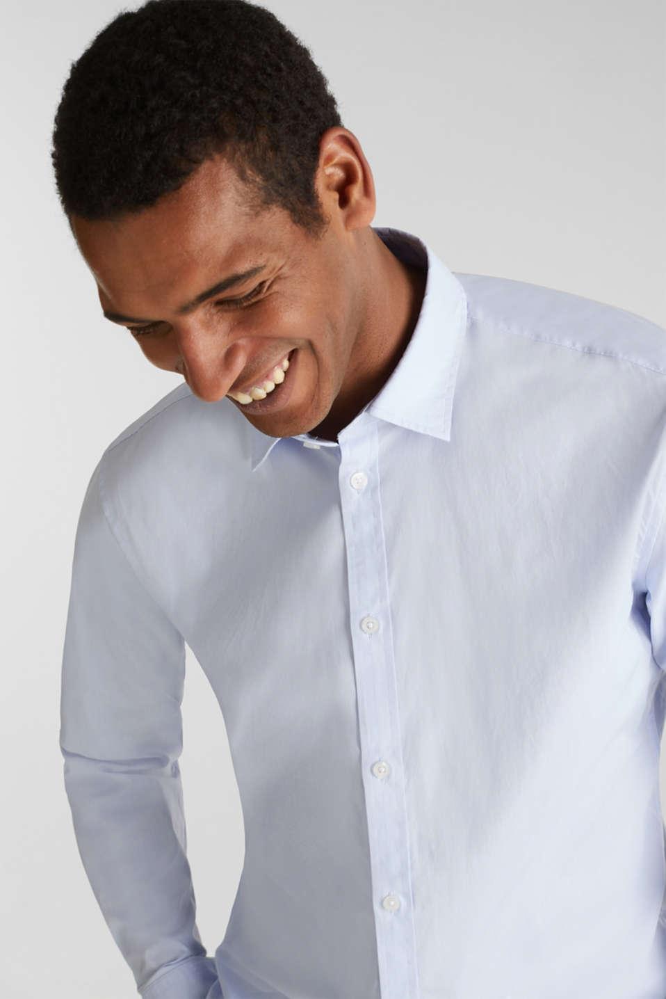 Plain-coloured shirt with COOLMAX®, LIGHT BLUE, detail image number 6