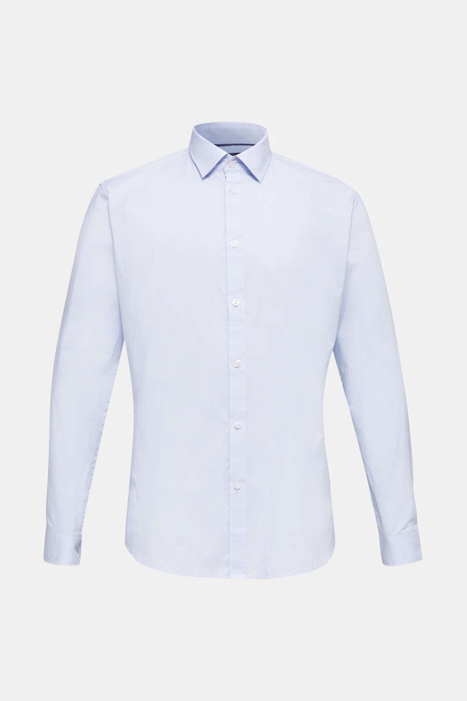 Plain-coloured shirt with COOLMAX®, LIGHT BLUE, detail image number 7