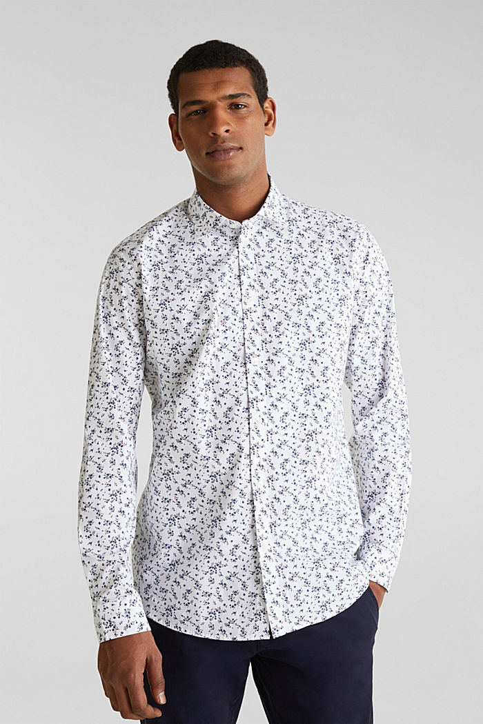 Floral shirt with COOLMAX®, WHITE, detail image number 0