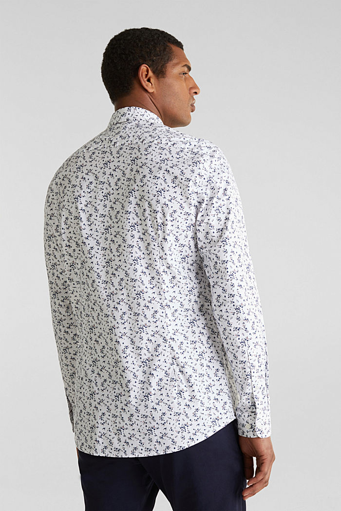 Floral shirt with COOLMAX®, WHITE, detail image number 3
