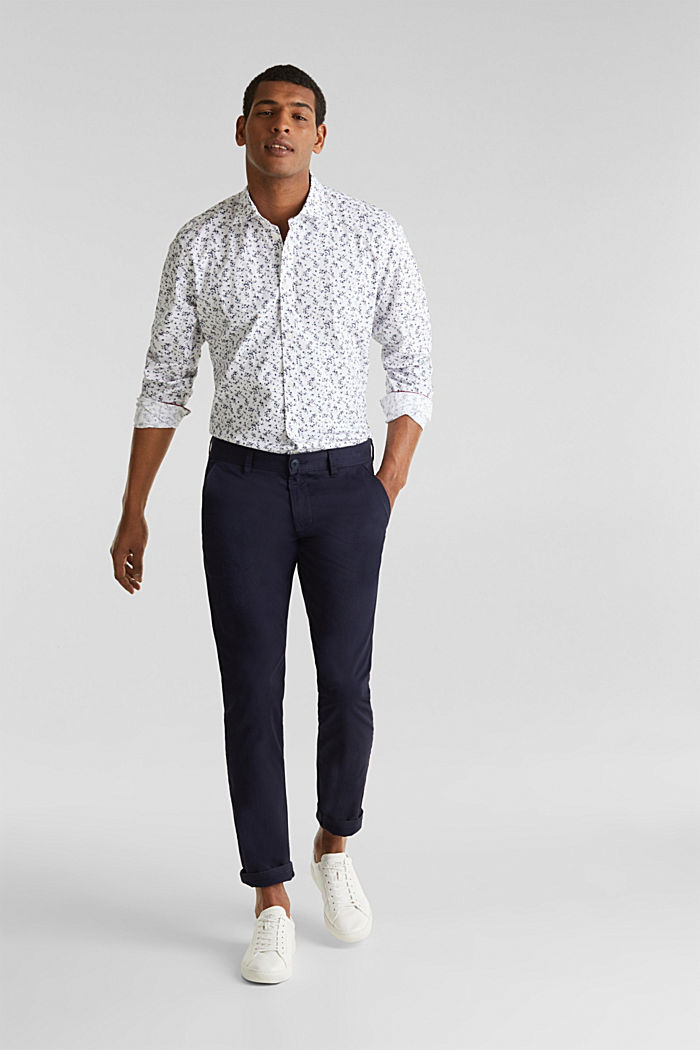 Floral shirt with COOLMAX®, WHITE, detail image number 7