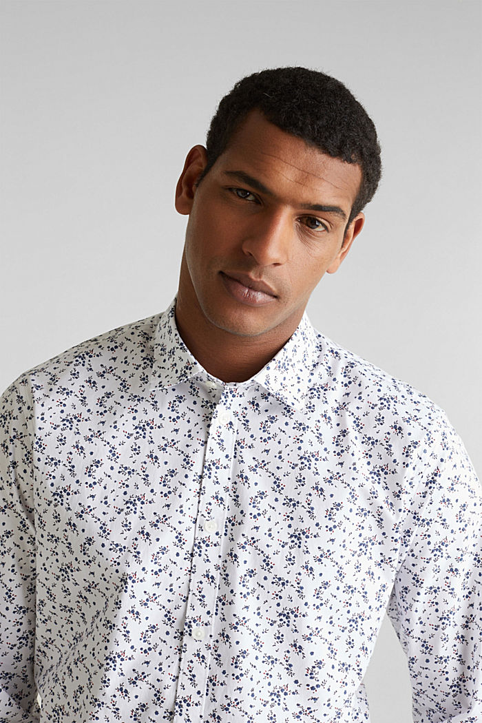 Floral shirt with COOLMAX®, WHITE, detail image number 6