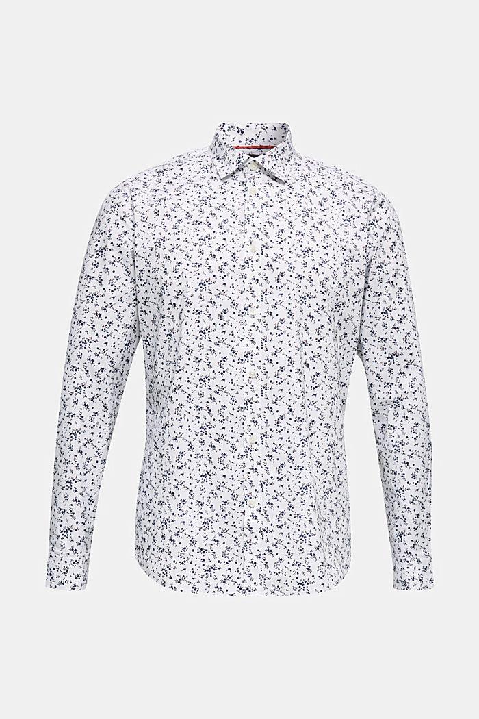 Blümchen-Hemd mit COOLMAX®, WHITE, detail image number 0