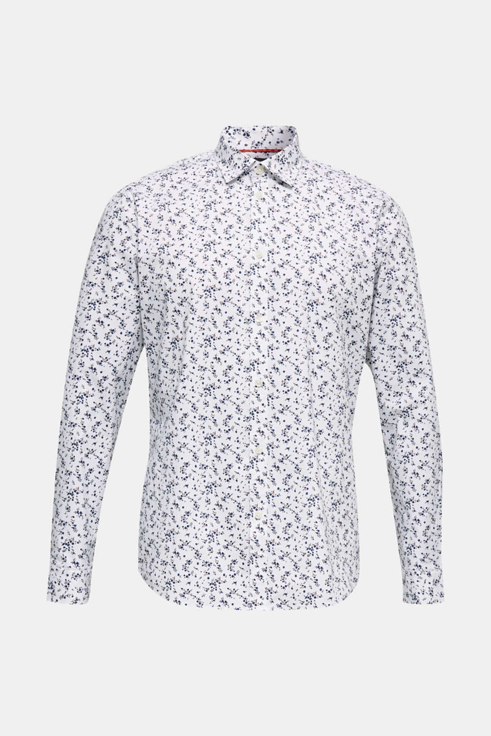 Floral shirt with COOLMAX®, WHITE 4, detail image number 8