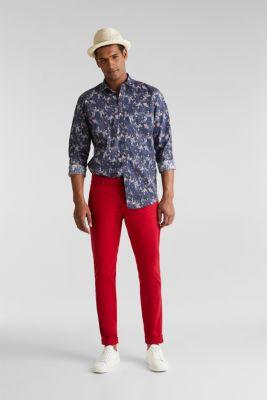 Floral shirt with COOLMAX®, DARK BLUE 4, detail