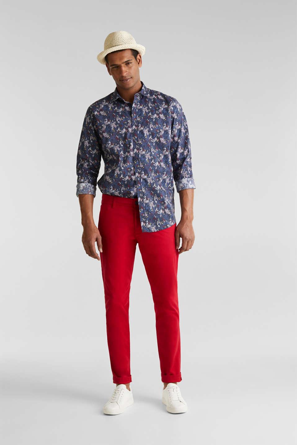 Floral shirt with COOLMAX®, DARK BLUE 4, detail image number 1