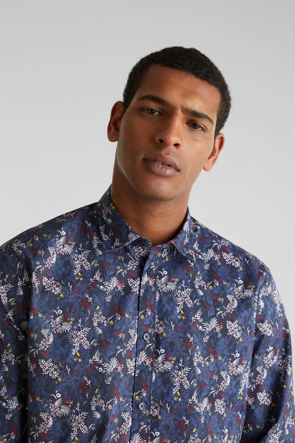Floral shirt with COOLMAX®, DARK BLUE 4, detail image number 2