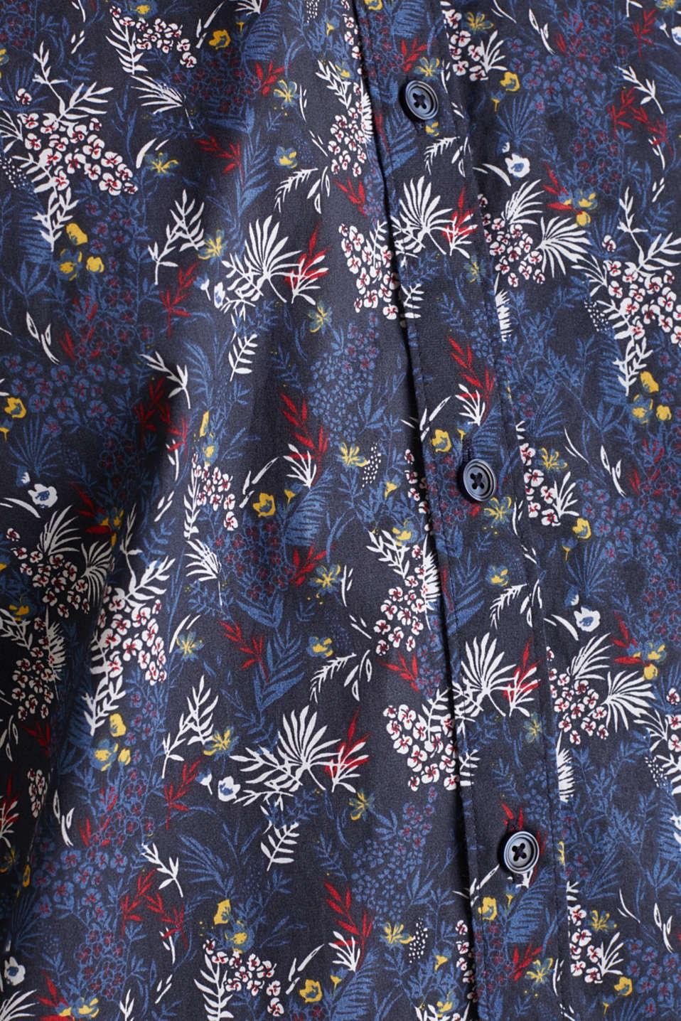 Floral shirt with COOLMAX®, DARK BLUE 4, detail image number 4