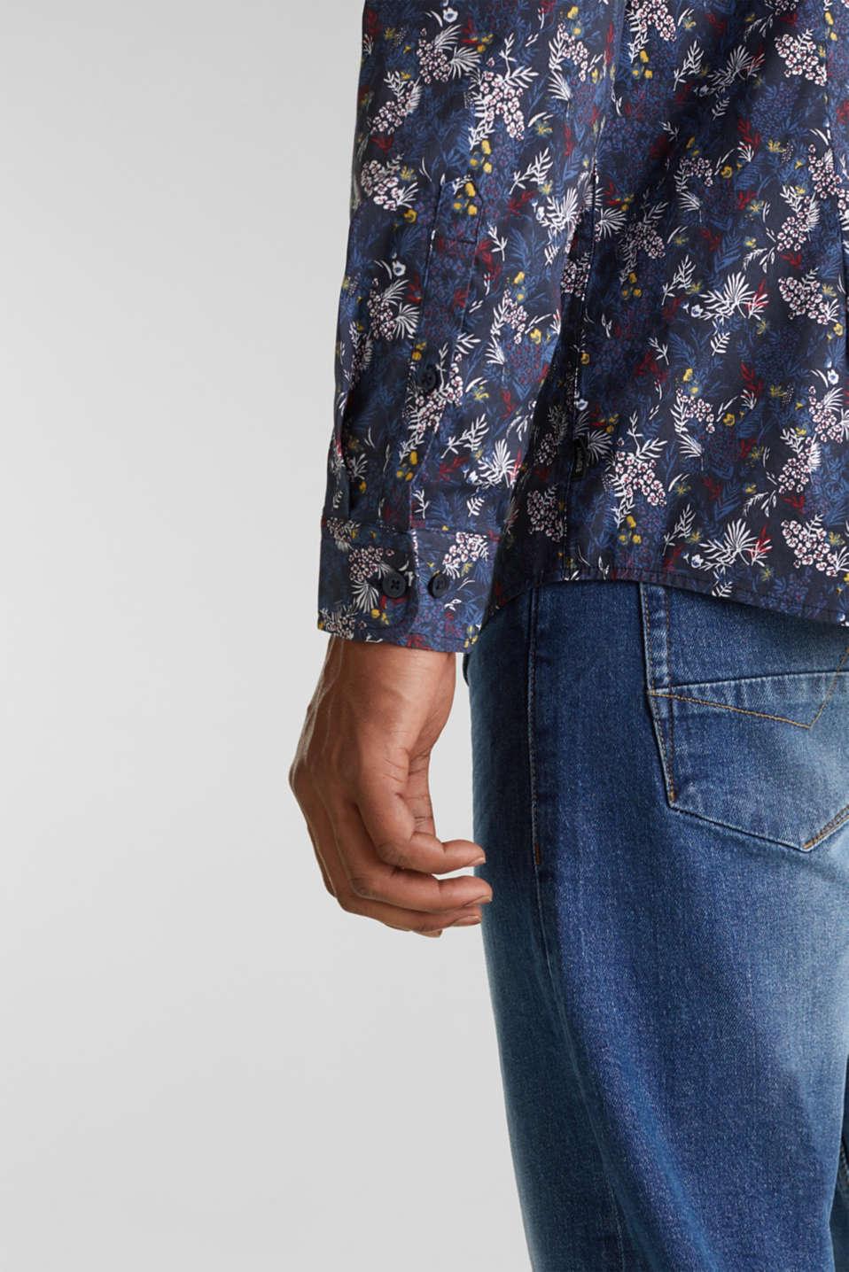 Floral shirt with COOLMAX®, DARK BLUE 4, detail image number 5
