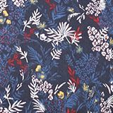 Floral shirt with COOLMAX®, DARK BLUE 4, swatch