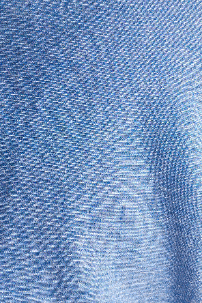 Shirt with linen and a button-down collar, LIGHT BLUE, detail image number 4